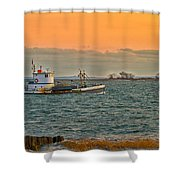 Heading In Shower Curtain