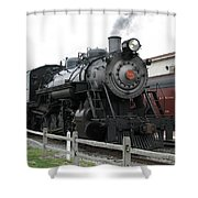 Heading Into Service - Milepost 0 Shower Curtain