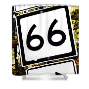 Heading West On Route 66 Shower Curtain