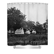 Headquarters - Army Of The Potomac - Fairfax Courthouse Virginia 1863 Shower Curtain