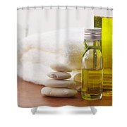 Health Spa Shower Curtain