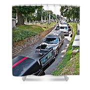 Hearses At Laurel Hill Cemetery Shower Curtain