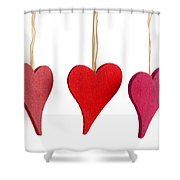 Heart Decorations Shower Curtain