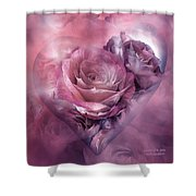 Heart Of A Rose - Mauve Purple Shower Curtain