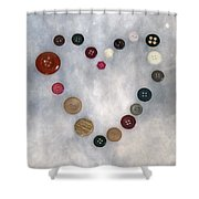Heart Of Buttons Shower Curtain