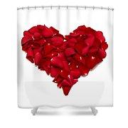 Heart Of Petals Shower Curtain