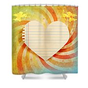 Heart Paper Retro Design Shower Curtain