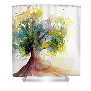 Heart Tree Shower Curtain