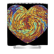 Heartline 8 Shower Curtain by Will Borden