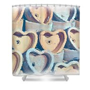 Hearts A Plenty Shower Curtain