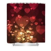 Hearts Background Shower Curtain