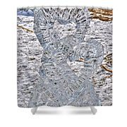 Hearts Cold As Ice Shower Curtain