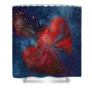Hearts In Space Shower Curtain