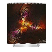Heat Of Passion Shower Curtain