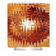 Heat Wave - Abstract Art Shower Curtain