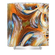 Heatwave Abstract Shower Curtain