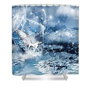 Heavenly Interlude Shower Curtain by Lourry Legarde