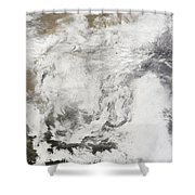Heavy Snowfall In China Shower Curtain by Stocktrek Images