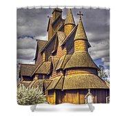 Heddal Stave Church  Shower Curtain