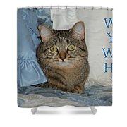 Heidi Cat Miss You Shower Curtain