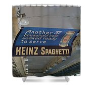 Heinz Spaghetti Train Ad Signage Digital Art Shower Curtain