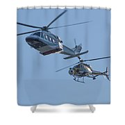 Helicopters Shower Curtain