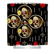 Hell Flowers Shower Curtain