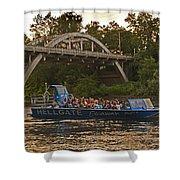 Hellgate Jet Boat And Caveman Bridge Shower Curtain