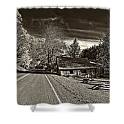 Helvetia Wv Monochrome Shower Curtain