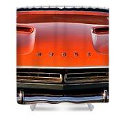 Hemi Orange 1971 Dodge Challenger Shower Curtain
