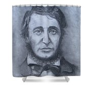 Henry David Thoreau Shower Curtain