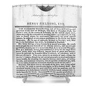 Henry Fielding (1707-1754) Shower Curtain