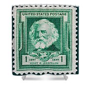 Henry W Longfellow Postage Stamp Shower Curtain