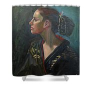 Her Kimono Shower Curtain