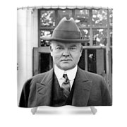 Herbert Hoover - President Of The United States Of America - C 1924 Shower Curtain