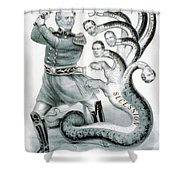 Hercules Of The Union, 1861 Shower Curtain