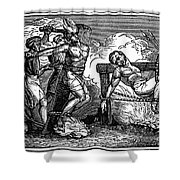 Heresy: Torture, C1550 Shower Curtain