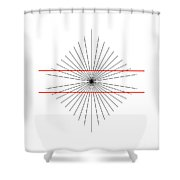 Hering Illusion Shower Curtain