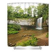 Herisson Waterfalls Shower Curtain