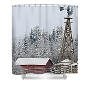 Heritage Park Historical Village Shower Curtain by Michael Interisano