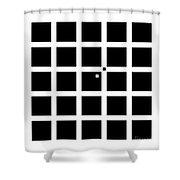 Hermann-hering Illusion Shower Curtain