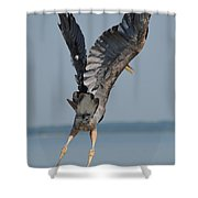 Heron Hands Up Shower Curtain