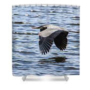 Heron Over Water Shower Curtain