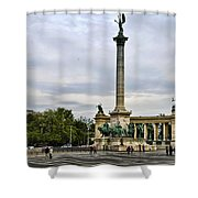 Heros Square - Budapest Shower Curtain
