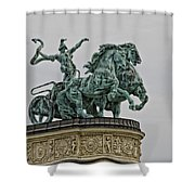 Heros Square Statue Shower Curtain