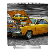 Hi-powered Dodge Abstract Shower Curtain