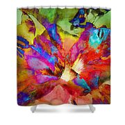 Hibiscus Abstract Shower Curtain