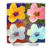 Hibiscus Blooming Shower Curtain