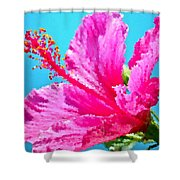 Hibiscus Crystal Luster Shower Curtain