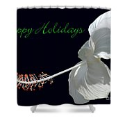 Hibiscus Holiday Card Shower Curtain